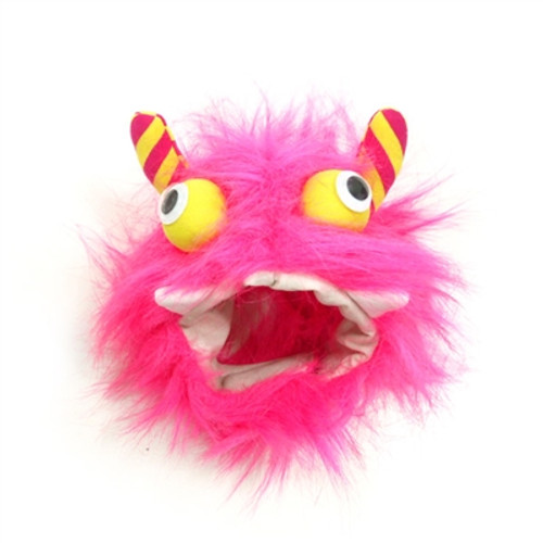 Furry Monster Hat Pink