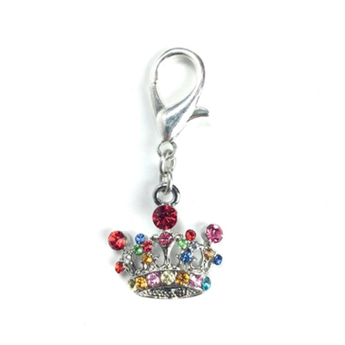 Large Crown Rocked Charm - Multi