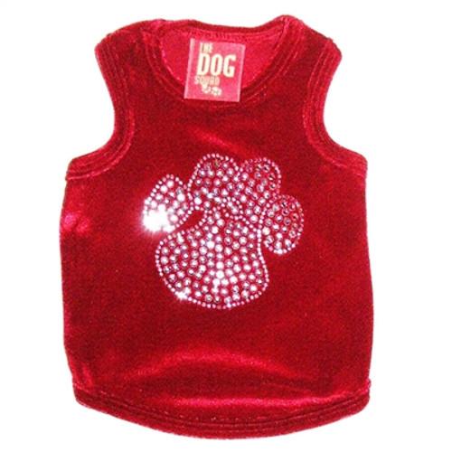 Red Velvet Paw Tank