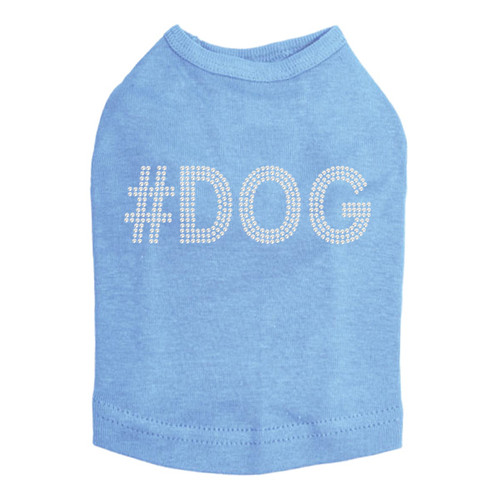 #DOG - Rhinestone - Dog Tank - Blue