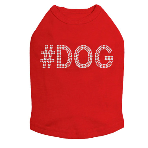 #DOG - Rhinestone - Dog Tank - Red