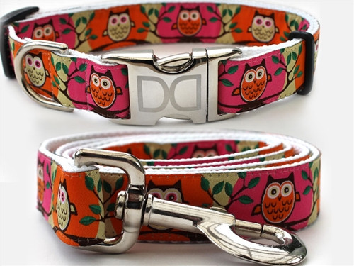H'Owl Collection Pink and Pumpkin - All Metal Buckles