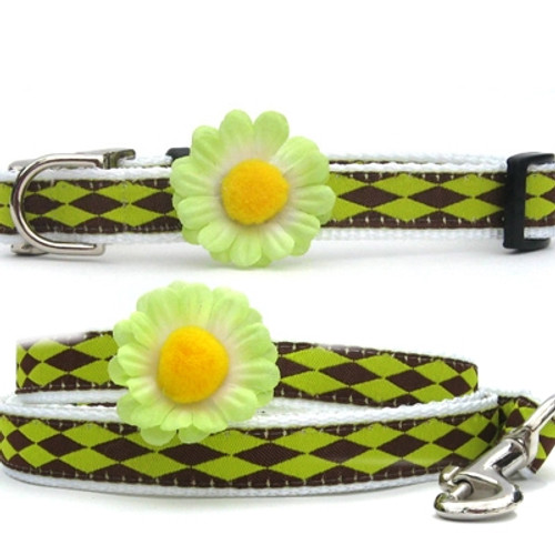 Gerber Daisy Collection - Green All Metal Buckles