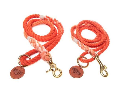 Tangerine Ombré Dog Leash