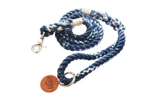 Marble Blue Rope Dog Leash