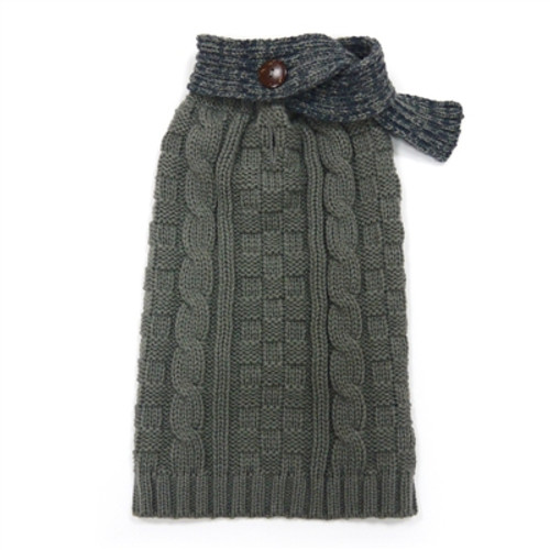 Urban Cable Scarf Sweater - Gray