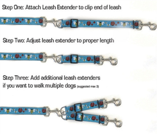 Venice Ink Leash Extenders