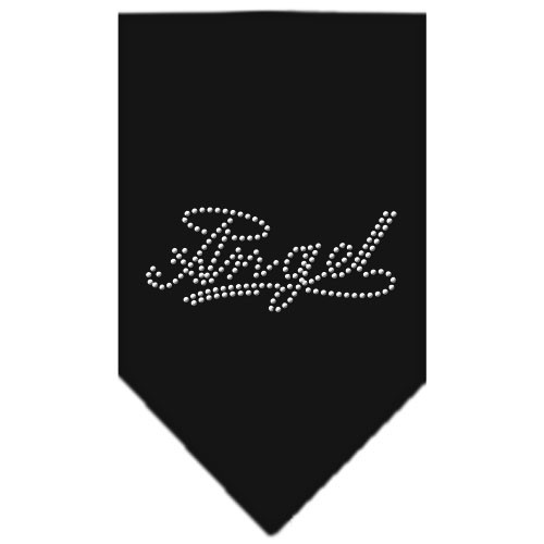 Angel Rhinestone Bandana - Black
