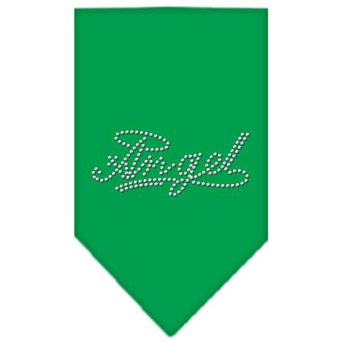 Angel Rhinestone Bandana - Emerald Green