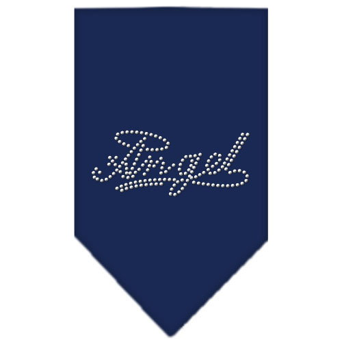 Angel Rhinestone Bandana - Navy Blue