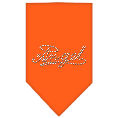 Angel Rhinestone Bandana - Orange