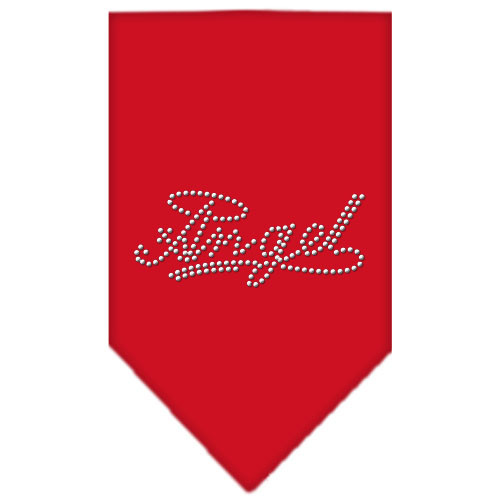 Angel Rhinestone Bandana - Red