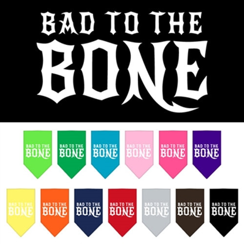 Bad to the Bone Screen Print Bandana