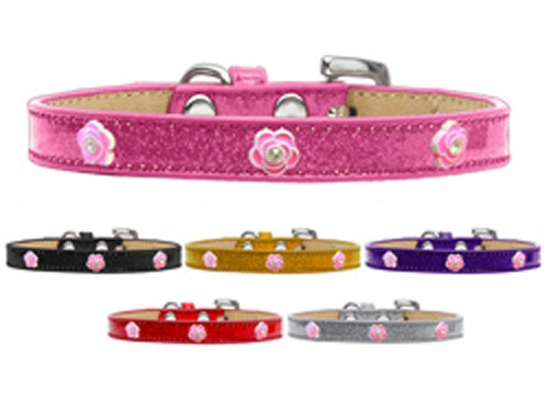 Bright Pink Rose Widget Dog Collar Ice Cream