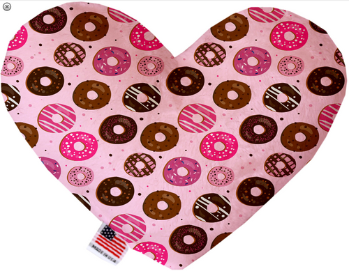 Pink Donuts Heart Dog Toy