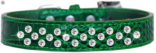 Sprinkles Clear Jewel Croc Dog Collar