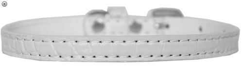 Omaha Plain Croc Dog Collar
