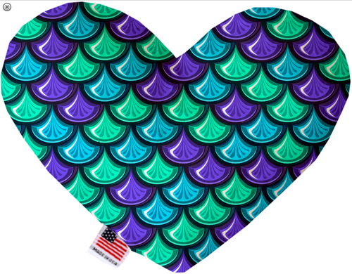 Mermaid Scales Heart Dog Toy