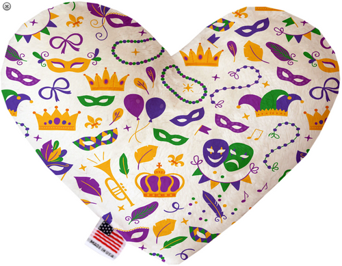 Mardi Gras Masks Heart Dog Toy