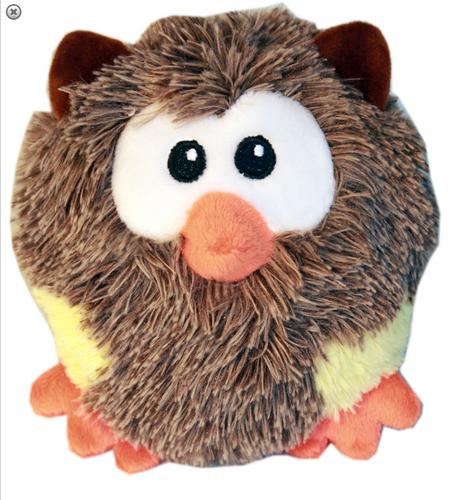 Roundimal Squeaky Dog Toy Owl