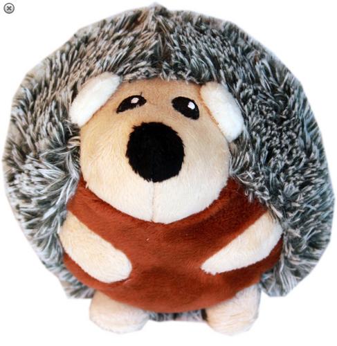 Roundimal Squeaky Dog Toy Hedgehog