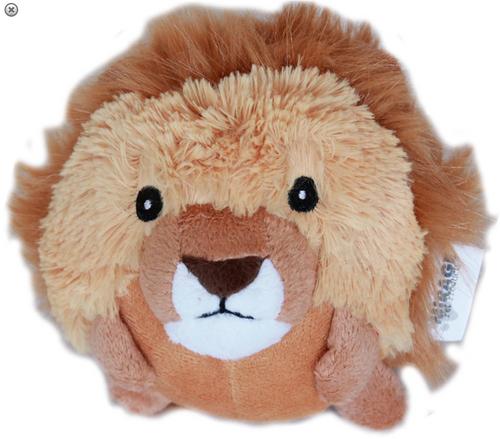 Roundimal Squeaky Dog Toy Lion