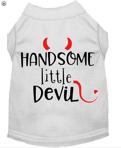 Handsome Little Devil Screen Print Dog Shirt