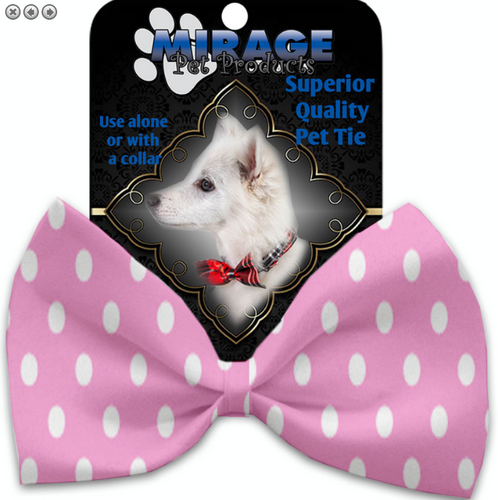 Pink Polka Dots Pet Bow Tie
