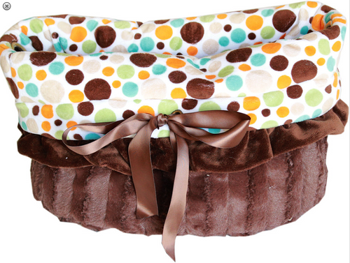 Fall Party Dots Reversible Snuggle Bugs Pet Bed, Bag, and Car Seat All-in-One