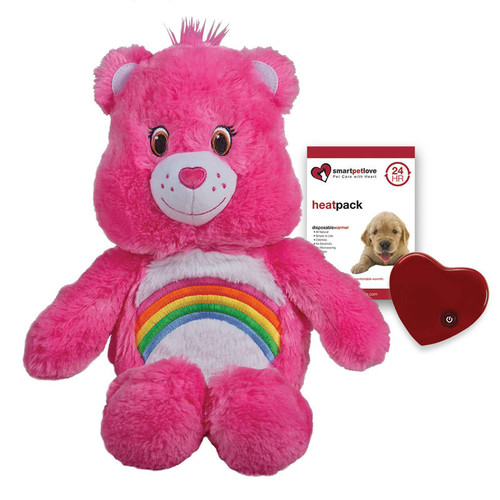"Smart Pet Love Care Bear Tender with Heartbeat and Warmth - Pink ""Cheer"""