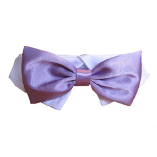 Pooch Outfitters Lavender Satin Bow Tie