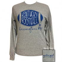 Preppy monogrammed gifts boutique clothing decor cordial lee kentucky football long sleeve tee negle Choice Image