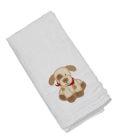 Applique Single Burp Cloth - Max Puppy