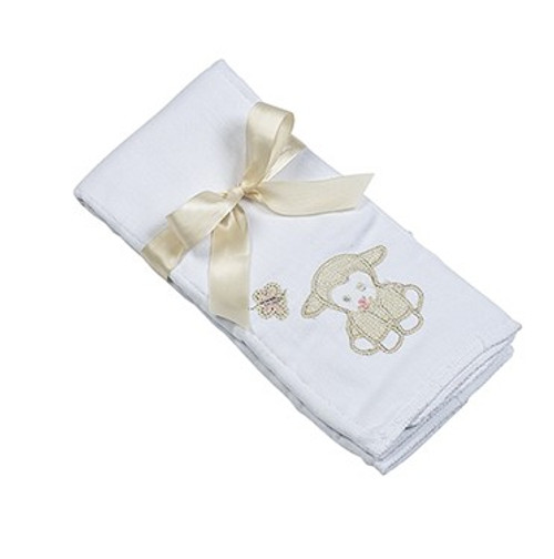 Applique Single Burp Cloth - Lillie Lamb
