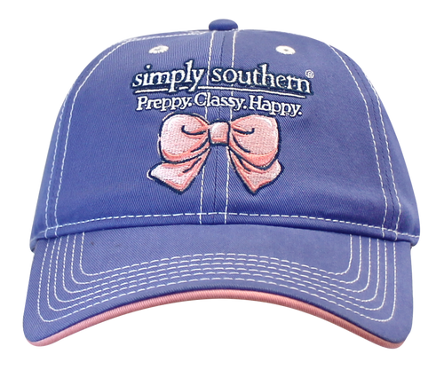 Simply Southern Ballcap - Happy - Periwinkle