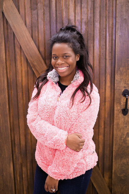 Simply Southern Sherpa Pullover - Peony