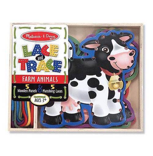 Farm Animals Lace & Trace