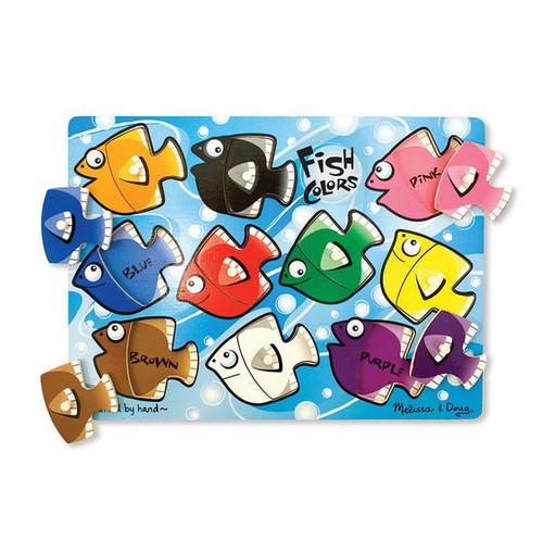 Colorful Fish Peg Puzzle