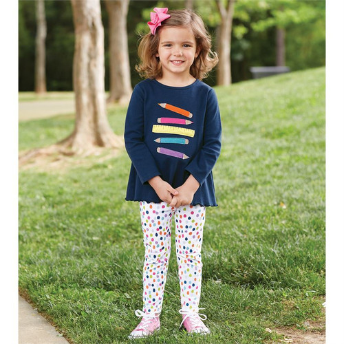 Ruler Pencil Tunic Legging Set - Navy