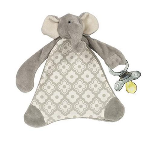 Pacifier Blankie - Emerson Elephant