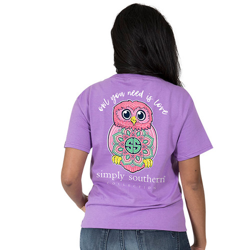 Simply Southern SS Tee - Preppy Owl