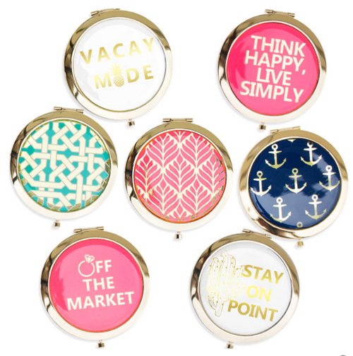Simply Southern Gold Accent Pocket Mirror