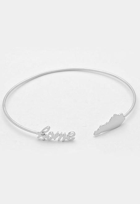 KY Home Bangle Bracelet - Silver