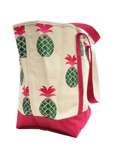 Canvas Shoulder Tote - Pineapple