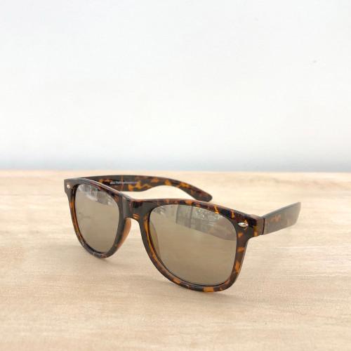 Newport Wayfarer Sunglasses - Gold Mirror