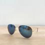 Tyndall Aviator Sunglasses - Gold & Blue