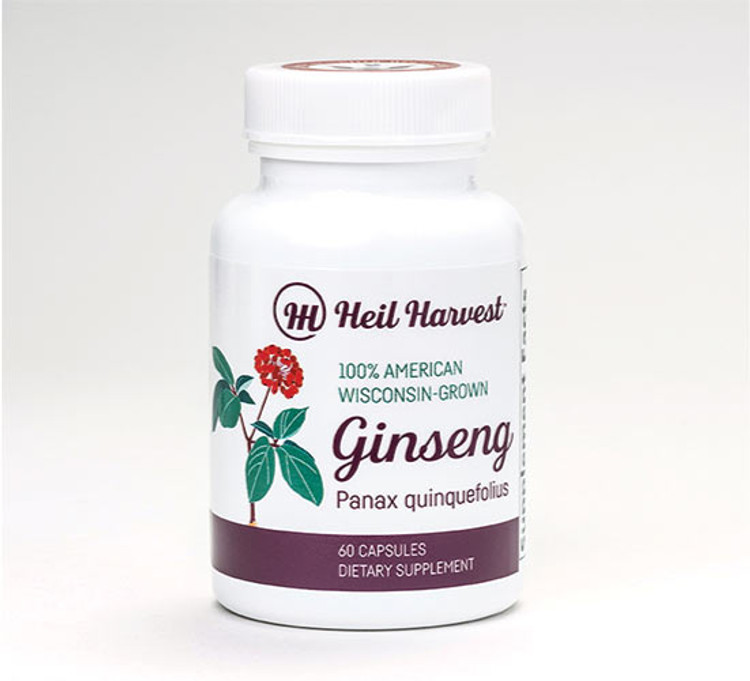 Ginseng Capsules-American Wisconsin Ginseng/ Heil Harvest Ginseng
