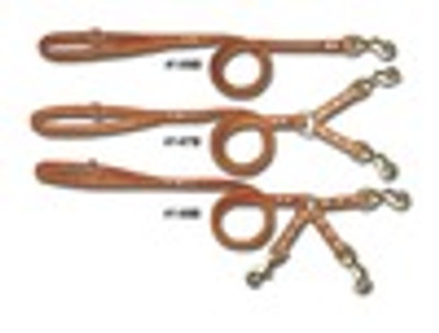 Leather Tree Lead with 3 Dog Coupler