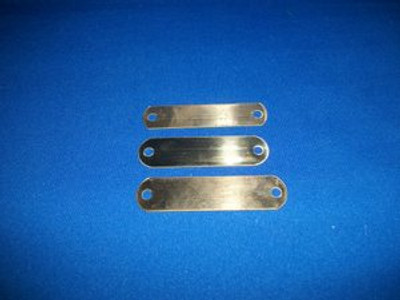 "Brass Name Tag Plates (5/8"" x 2 3/4"")"