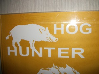 """Hog Hunter"" with Hog Window Decal"